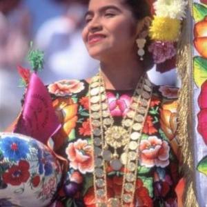 Oaxaca Women in Regional Wear and Jewelry