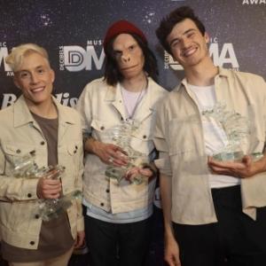 Loic Nottet, Kid Noize et Henri PFR - Credit photo : RTBF