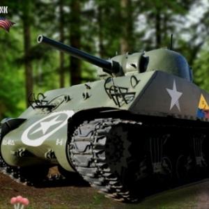 Tank Sherman Bastogne 7