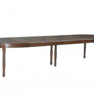 table ovale en chene avec 4 allonges