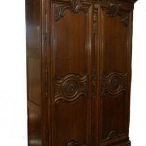 armoire de mariage ( Normandie, debut 19 eme siecle)