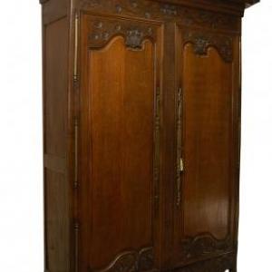 armoire de mariage en chene (Normandie, milieu 19eme siecle)