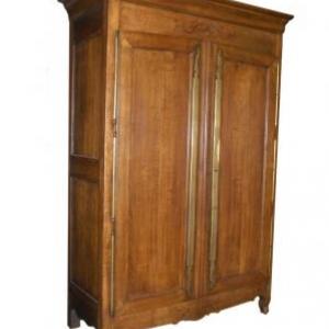 armoire Louis-Philippe en chene avec marqueterie ( Normandie, fin 19eme siecle)