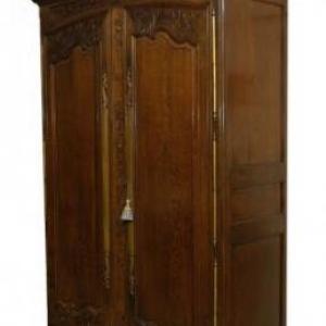 armoire de mariage ( Normandie, milieu 19 eme siecle)