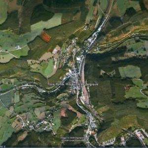 Trois-Ponts vu par satellite