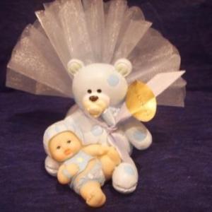 ours bebe bleu 2.30 € garni h 6 cm l 4 cm