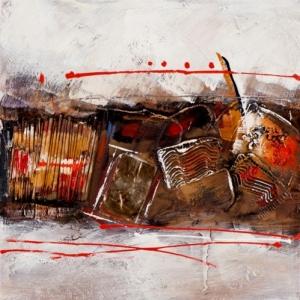 Tableau sur toile peint main