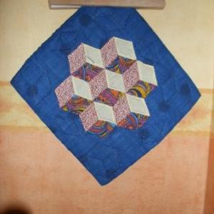 42. coussin atelier Casbah, Alger, patchwork: 8 euros