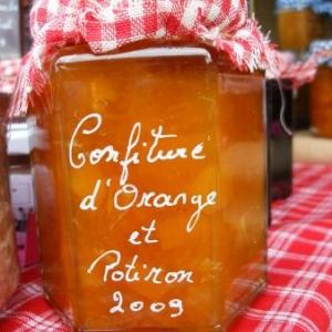 confiture d'orange et potiron (3 euros)