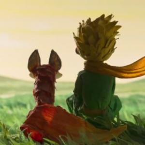 Le petit Prince de Saint-Exupery: le petit Prince et le renard.