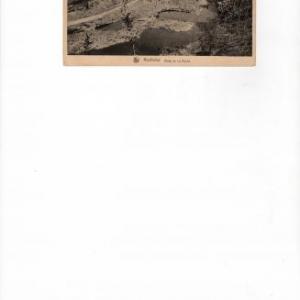 Le tournant de la route de La Roche, aux bombardements.