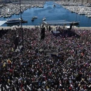 Melanchon, Marseille. Un futur president sur la Cannebiere.
