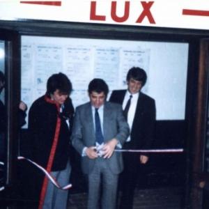 Louvain-la-Neuve : inauguration de la Maison de la Lux (avec Guy Lutgen a sa gauche)