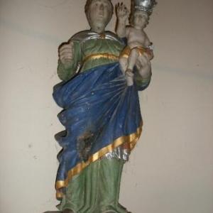 Autre petite merveille: une Vierge à l'Enfant, typique du Luxembourg