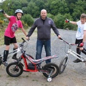 La famille Carlier: Eric, le papa, Julien et Thomas