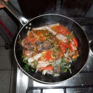 Les ingredients, avec la verdure des feuilles de marenga