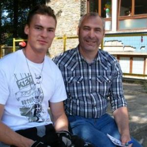 Nicolas Massart, et Luc, son papa
