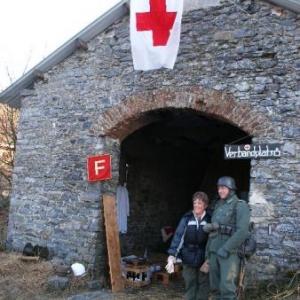 2. ein Verbandplatz, infirmerie allemande dans une annexe du domaine de Rolley
