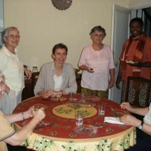 Alger, juin 2007, table ronde de six nationalit. diff.: Espagne, France, Pologne, Belgique, Congo, Alg. (Kabylie)