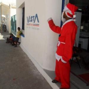 Un Pere Noel qui n'attire pas les enfants...