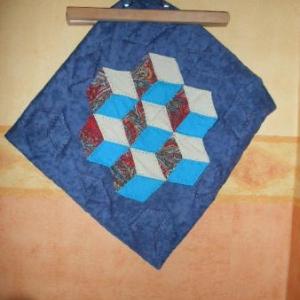 41. coussin atelier Casbah, Alger, patchwork: 8 euros