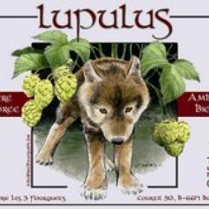l'etiquette de la Lupulus, de la main de Jean-Claude Servais