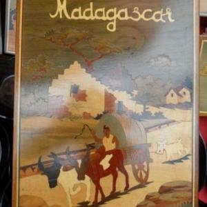 Tintin, avec un attelage de zebus (la nuit tombe...)