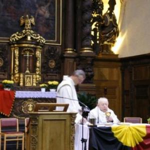 lors de sa derniere messe, Houffalize (Sainte-Catherine), le 11 novembre 2007
