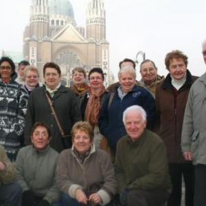 une partie du groupe, devant la basilique de Koekelberg