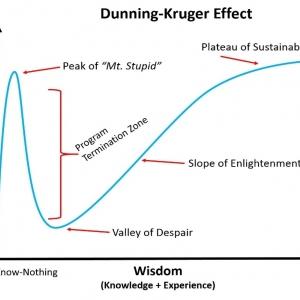 Modèle effet Dunning-Kruger