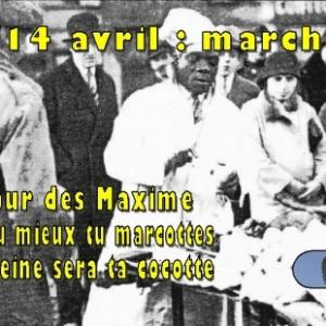 Jamais malade, jamais mourir. Annonce marche de la St-Maxime, 14 avril 2018, Houffalize