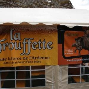 """A la brasserie """"La Trouffette""""."""