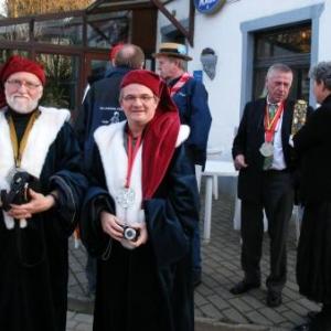 Le Grand Maitre Jaminon et le compagnon marsien Pierre-Emmanuel