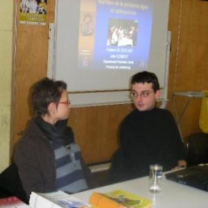 Julie Clement et Frederic Ceulaer avant leur expose