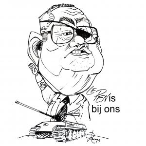 caricature Jean-Marie Le Pen