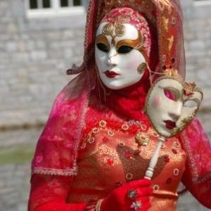Costumés de Venise aux Jardins d'Annevoie