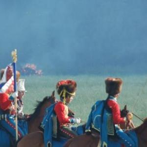 Les chasseurs à cheval de la garde (Hougoumont)