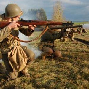 Soldats americains en action (show diurne HMRA) (Vaux-sur-Sure)