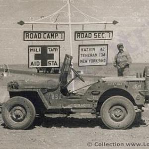 Jeep pres de Kazvin et Teheran