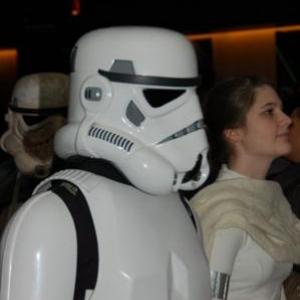 La princesse Leia escortee