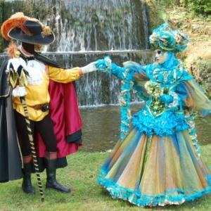 Les Costumés de Venise aux Jardins d'Annevoie