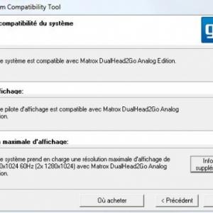Test logiciel de la solution Matrox DualHead 2Go Analog