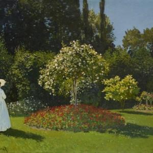 Claude Monet (1840–1926), Vrouw in een tuin [Dame au jardin], © State Hermitage Museum, St Petersburg