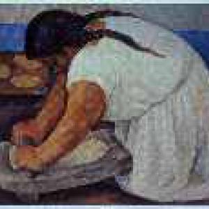 Diego Rivera - La Molendera, 1923