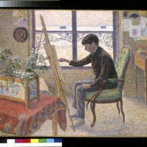 Lucien Pissarro, Interieur van het atelier, 1887