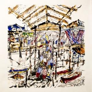 Exposition Lin Xiang Xiong au Bois du Cazier (Mons 2015)