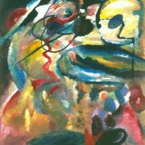 Wassily Kandinsky, Schilderij met cirkel, 1911, Olieverf op doek, 139 x 111 cm, copyright Russian Museum, St. Petersburg