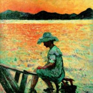 Henri Manguin, Saint-Tropez, le coucher de soleil, 1904, Huile sur toile, 81 x 65 cm, Collection particuliere Photo : tous droits reserves, Adagp, Paris 2012