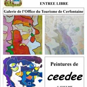 Exposition des peintures de Ceede à Cerfontaine