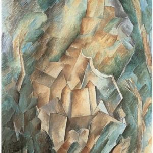 Le Château de la Roche-Guyon, huile sur toile ; 73 x 60 cm, Villeneuve-d'Ascq, LaM Lille métropole musée d'Art moderne, d'Art contemporain et d'Art brut, © Adagp Paris, 2013